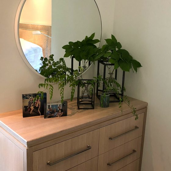 Bedroom corner styling