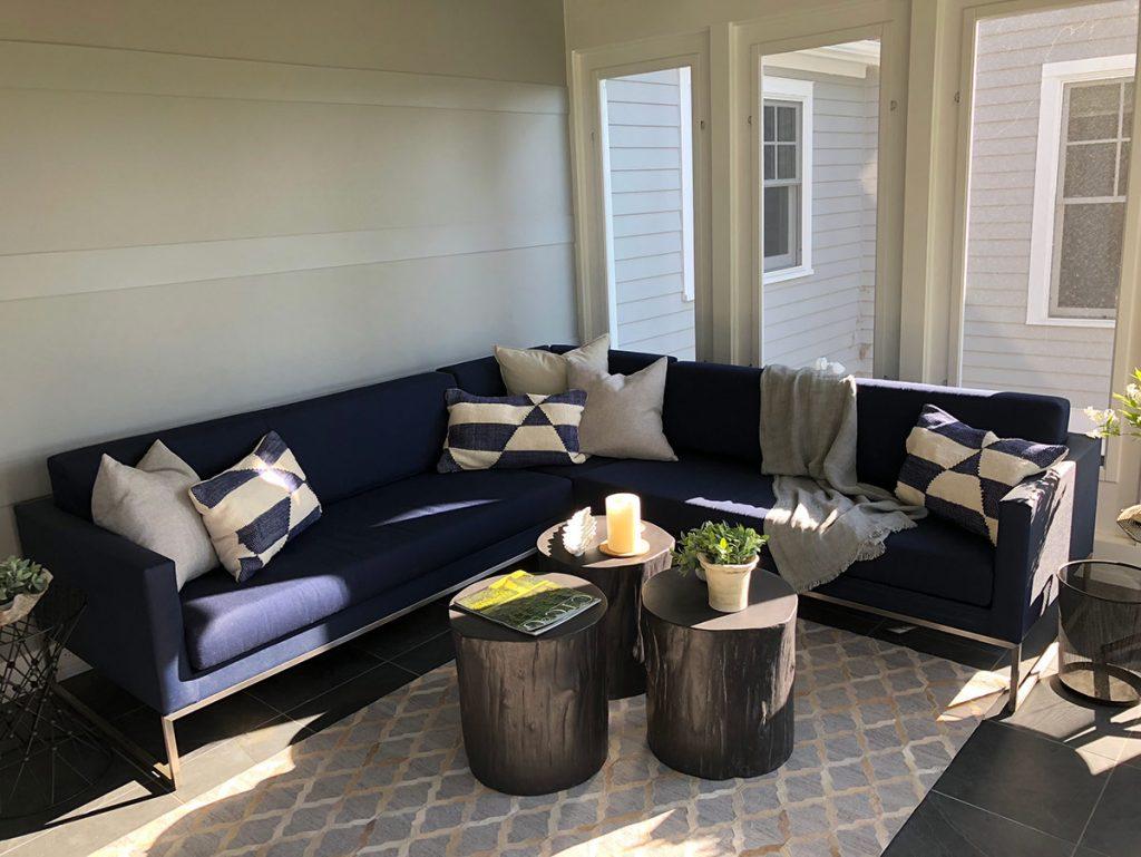 Sun porch seating area