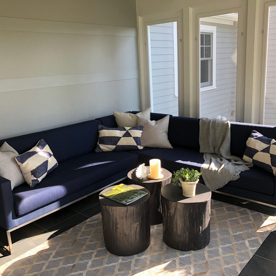 Sun porch seating area